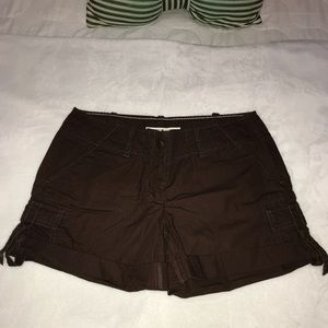 TOMMY HILFIGER BROWN CARGO SHORTS SIZE 4